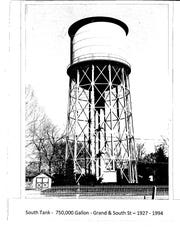 This water tower once stood at the corner of Grand