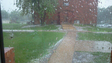 Hail outside my building on 51st & Racket Drive in Sioux Falls
