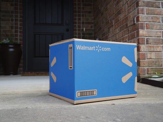 A Walmart box.