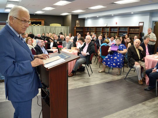 U.S. Rep. Bill Pascrell addresses a crowd of dignitaries and donors who gathered in Passaic to mark the official opening of a new facility, owned by Jewish Family Service.