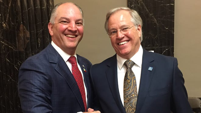Gov. John Bel Edwards welcomed One Acadiana Chairman Donald Broussard and all participating in Acadiana Day at the Capitol Tuesday.