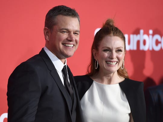 Matt Damon and Julianne Moore shared their thoughts about sexual harassment in Hollywood at Sunday's 'Suburbicon' premiere in L.A.