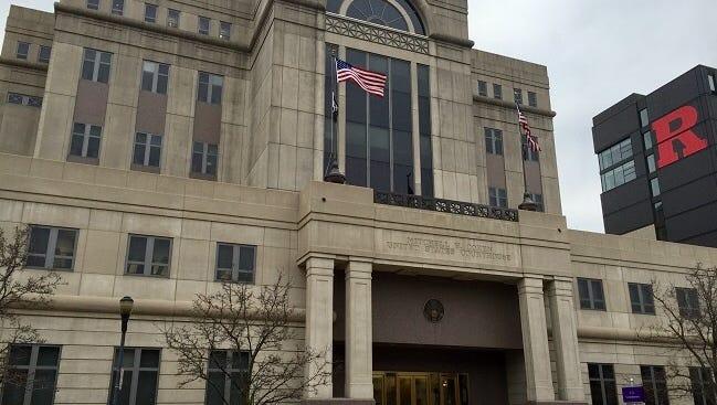 Anthony Thomas of Camden was sentenced for a gun crime Tuesday in federal court, Camden.