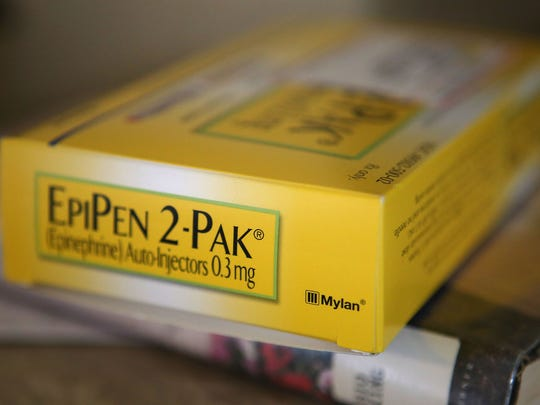The EpiPen drug delivery system from Mylan.
