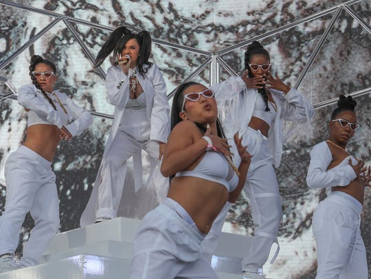 Apr 15, 2018; Indio, CA, USA; Cardi B performs at the
