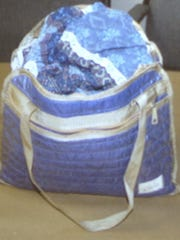 The overnight bag in which two outfits that belonged to Annette Vail were found Oct. 4, 2013, in an attic storeroom that had belonged to Felix Vail.