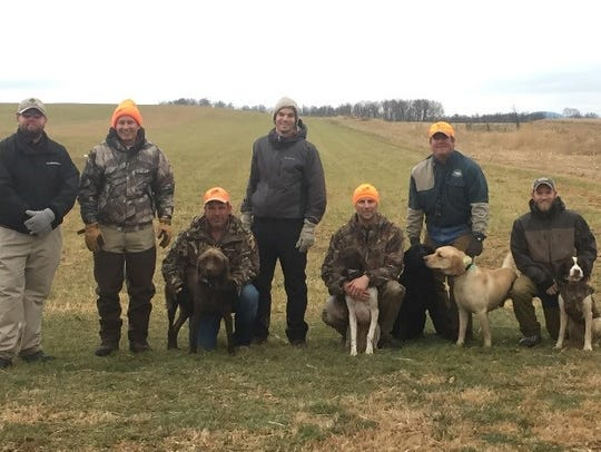 Volunteers, officials and their dogs flushed 30 pheasants