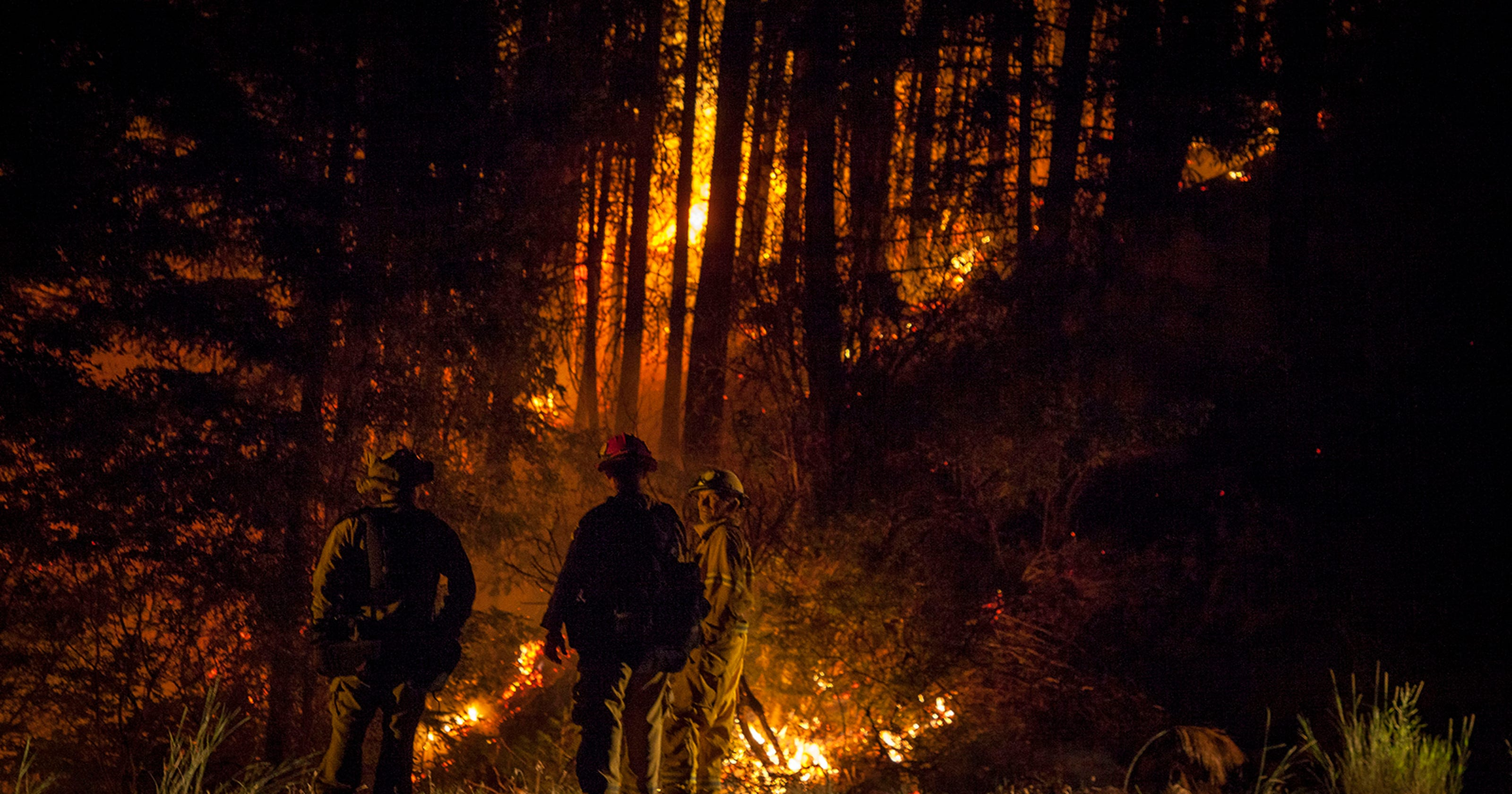 California Wildfires Threaten Area The Size Of Rockland