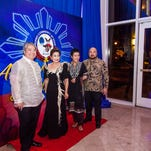 Joel Rubio, Nita Baldovino, FCG president, Dr. Annette David, Gawad Ulirang 2014 winner and 2015 judge, and Norman Analista, FCG 1st vice president and event chairman were photographed prior to entering the venue.