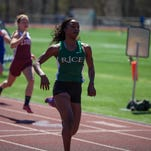 U-32's Rena Schwartz won the 1,500 (pictured) and the 3,000 at Saturday's Burlington Invitational track and field meet.