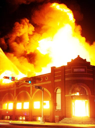 Fire Chief Larry Bells says the December 2011 fire at the historic Matera Paper Co./J.M. Radford Grocer building was one of the worst in Abilene in his 35 years with the Abilene Fire Department. Firefighters could not save the 105-year-old building.