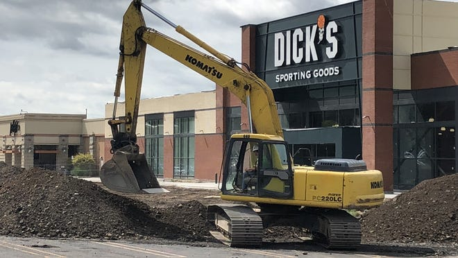 Work continues on Dick's Sporting Goods in Victor, which is moving into the former Sears space in Eastview Mall.