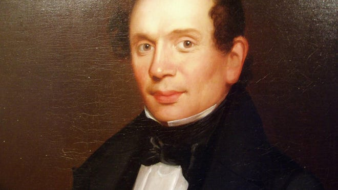 """The first week of June marks the anniversary of the publication of """"Rambles About Portsmouth"""" by Portsmouth Journal author-editor-owner Charles W. Brewster. The 1859 collection of Brewster's essays remains, arguably, the most influential record of the history of New Hampshire's only seaport. Detail of a portrait of Brewster by Charles Fenton"""