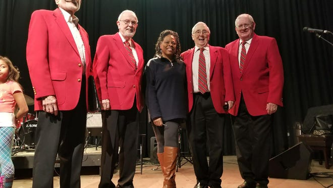 13th Colony Sound Chorus Quartet from an event at the Tybee Post Theater, from left, Bob Proctor, Joe Ryan, Kim Polote, Art Marble and Bob Kearns.