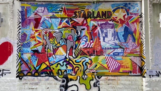 Amiri Farris' mural for the Starland Mural Project paints a bright history of the area.