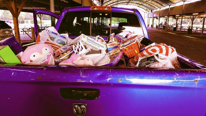 Several trucks were filled during the toy drive in Richmond Hill on Nov. 27.