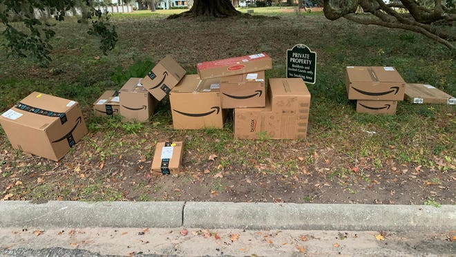 A driver of an Amazon Prime van on Monday afternoon abandoned more than a dozen packages in a Savannah neighborhood.