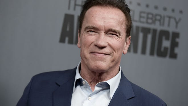 """Arnold Schwarzenegger attends a """"The New Celebrity Apprentice"""" event at Universal Studio in Universal City, Calif., on Dec. 9, 2016."""