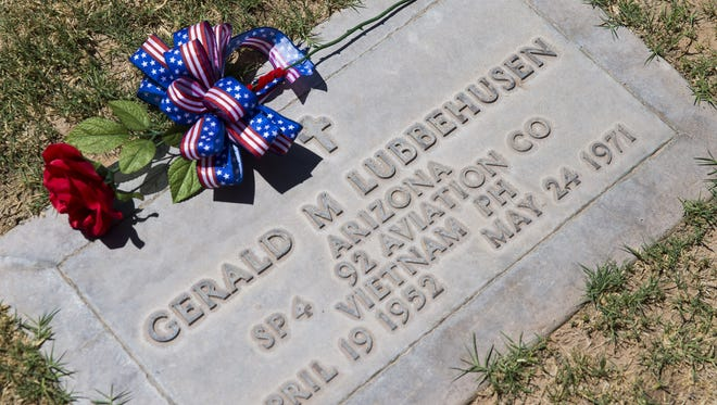 Spc. Gerald Lubbehusen was buried at Holy Cross Cemetery in Avondale. He died in the Vietnam War.