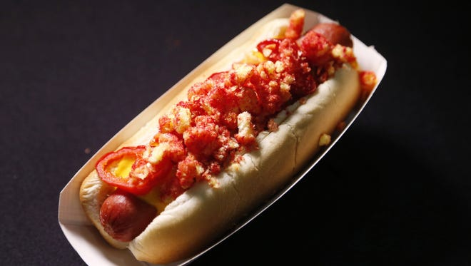 The Fire Dog ($6) offered at University of Phoenix Stadium in Glendale.