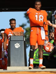 Clemson safety Jadar Johnson (18) during senior day