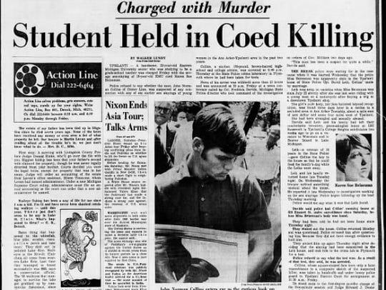 Detroit Free Press story on John Norman Collin's arrest