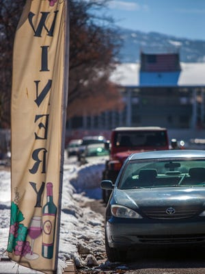 Cars are parked on 200 West between Center and 200 North in Cedar City, Wednesday, Feb. 10, 2016.
