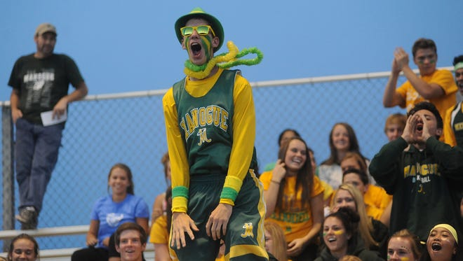 Bishop Manogue fans root on the Miners during last week's game at Spanish Springs.