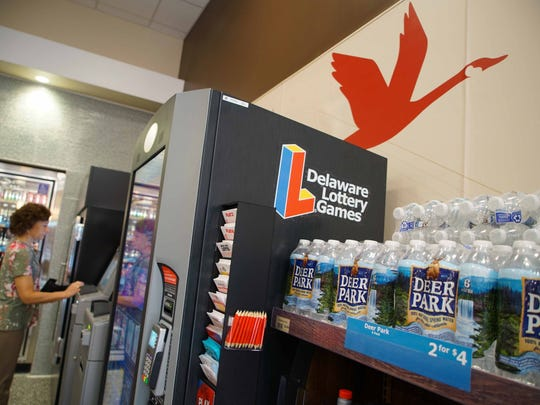 Wawa's store on Rocky Run Parkway off Rt. 202 offers patrons the opportunity to play the Delaware Lotto at a self-serve machine inside the store.