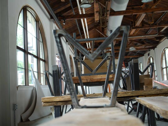 Wilmington Brew Works will offer a beer hall-style experience with communal tables at its Miller Road location when it opens in June.