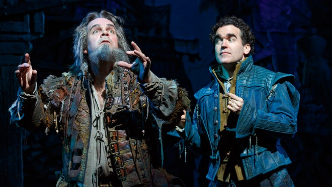 """Brad Oscar, left, and Brian d'Arcy James star in """"Something Rotten!"""""""