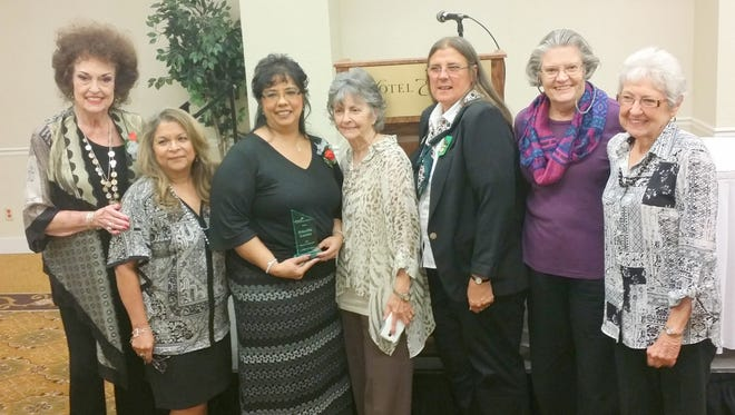 From left, Dianne Hamilton, Lucy Madrid, Priscilla Lucero, Barbara Carr, Annette Toney, Mary Alice Murphy and Pat Elgin.