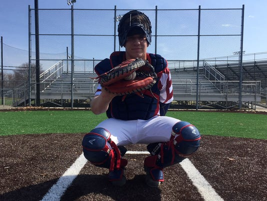 Dylan Stezzi trying to make it as left handed catcher for Eastern