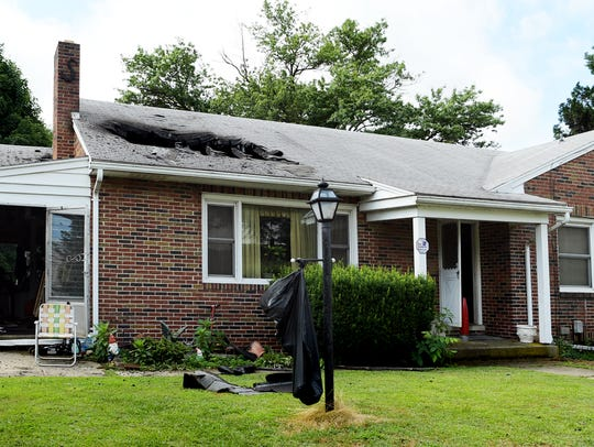 A home was damaged after a fire at 240 Church St. in