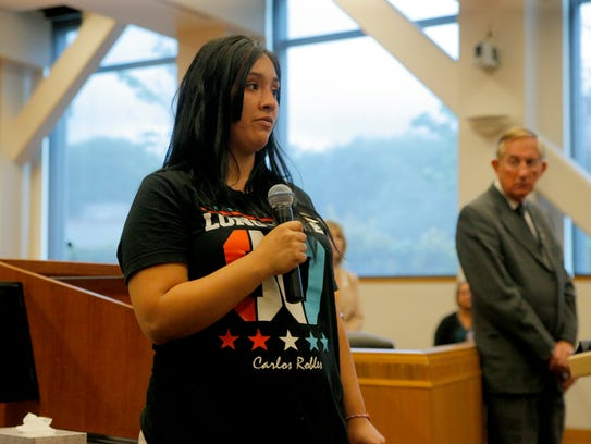 Vanessa Rojas honored her brother Carlos Robles who