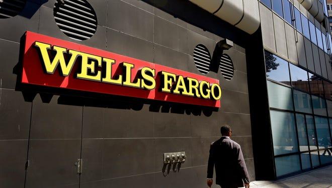 A Wells Fargo bank office in Oakland, Calif.