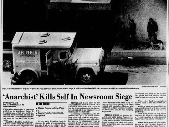 October 16, 1980: Enquirer coverage of the WCPO newsroom siege.