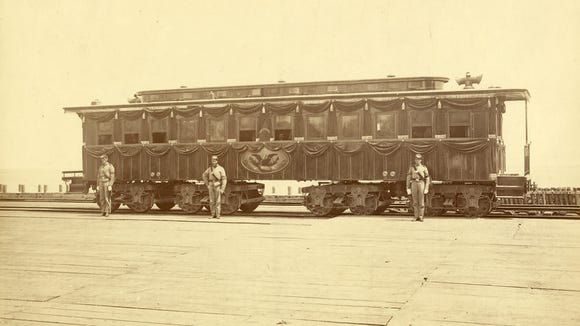 President Abraham Lincoln's railroad funeral car. Photo courtesy of the Library of Congress