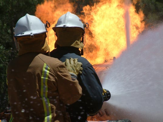 #stockphoto fire fighters