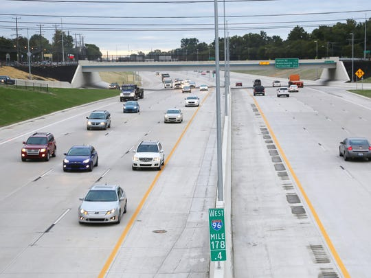 Reconstruction of a 7-mile stretch of I-96 is done