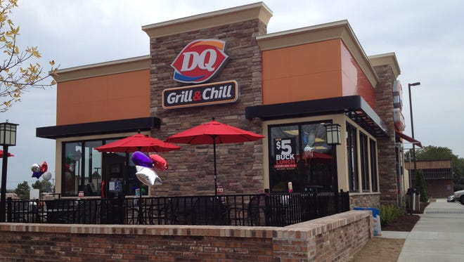 This DQ Grill & Chill is on Dewey Avenue just north of the corner of Britton Road.
