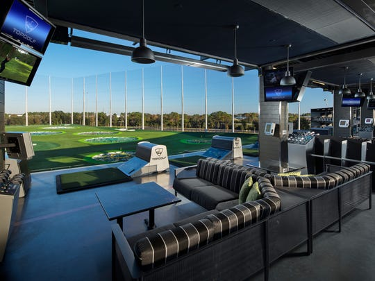 Architectural photography at the Topgolf location in Tampa