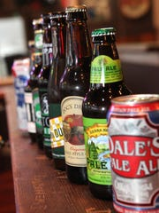 A sampling of bottled beers available at Orchard Beer Garden.