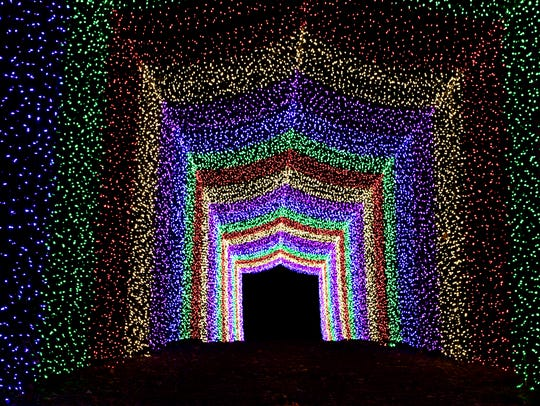 Candy Cane Lane Drive-Thru Christmas Light Park is ready for visitors.