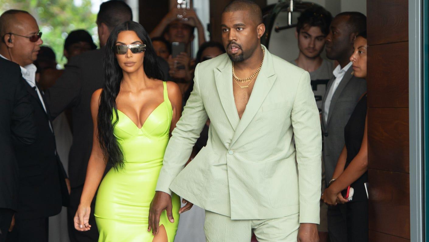 Kim Kardashian And Kanye West Light Up 2 Chainz S Wedding With Neon
