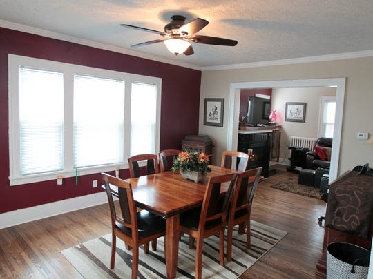 The dining-room area of a house sold by Nothnagle realtor Dave Malta on Spencer Road in Rochester. Malta says the market is hot, but the inventory is low so move-in ready houses are moving fast.
