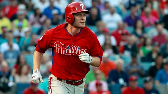 Cody Asche hit .295 with a home run in 15 games at Lehigh Valley.