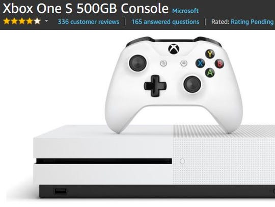 A Xbox One S on Amazon.