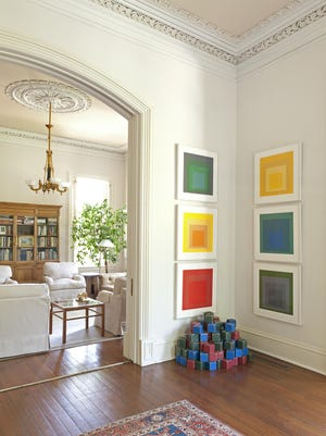 """This is one of the rooms featured in Susan Sully's """"Past Present: Living With Heirlooms and Antiques."""""""