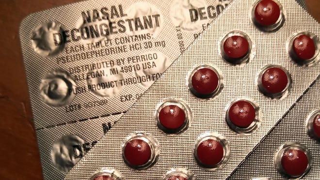 Pseudoephedrine can worsen symptoms of a condition known as benign prostatic hyperplasia because the medicine causes tightening of the muscles in the prostate.